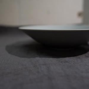 Stoneプレート クープ皿  リッチグレー21㎝