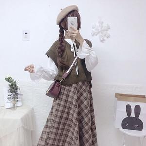 3点セット♡ セットアップ♡ ベスト シャツ ロングスカート♡