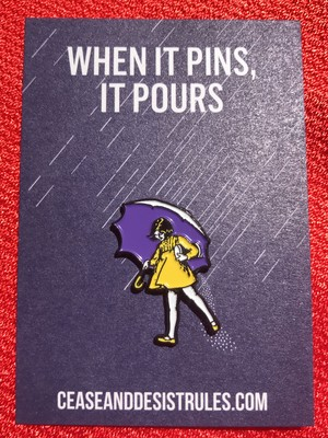 """FELT GOOD CO""""When It Rains, It Roars Enamel Pin"""""""
