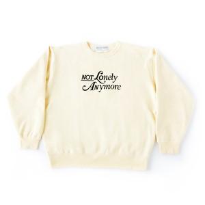 Not Lonely Anymore Crew Sweat shirt Cream Yellow