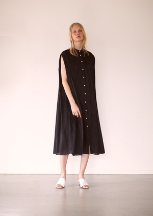 Gathered s/l dress