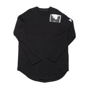 687CPM3-BLACK / パッチプリントシャツ