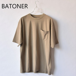 BATONER/バトナー・Twist High Gauge Terry Pocket T-Shirt(men's)