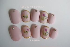 再販1☆野に咲く押し花ネイル♡