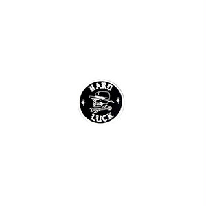 HARD LUCK - OLDE E STICKER (Black) 31mm