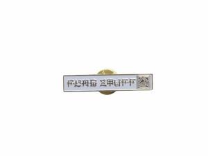 """F-LAGSTUF-F"" PINS WHITE(Horizontal) 18AW-FS-68"