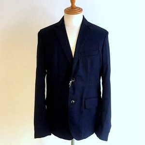 Stretch Check Tailored Jacket Navy