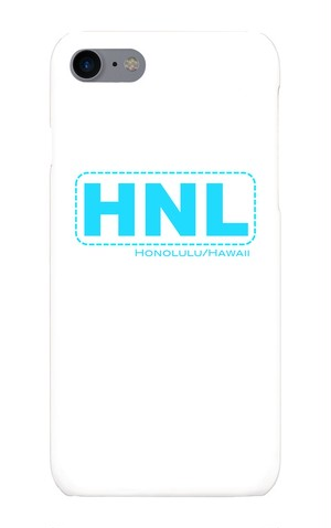 【iPhone7】HNL *Honolulu Int'l Airport phone case -Blue 【スマホケース】
