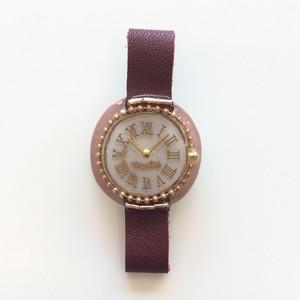 キャトルシス 腕時計ブローチ / ワイン