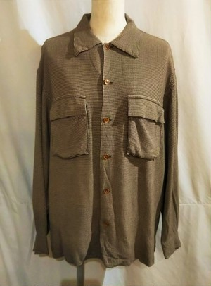 RALPH LAUREN COUNTRY Hound's Tooth open collar shirt [1981]