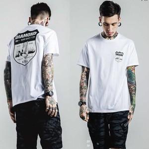 【ホワイト】DIAMOND メンズ Tシャツ 半袖シャツ N293