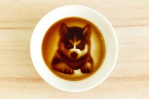 子犬(ハスキー)の醤油皿
