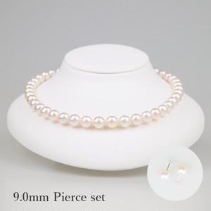 薄桜90P-set(Usuzakura)【Akoya8.5-9.0mm】Necklace & Pierce Set