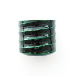 手彫りのぐい呑み(おちょこ)渦・緑【限定品】