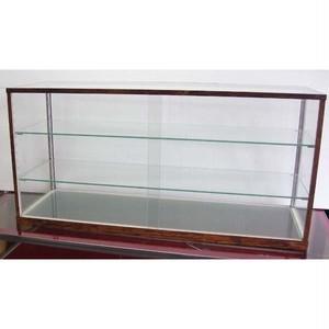 アンティーク・レトロ調 ガラスケースW900mm 木製風 古木 コレクションケース