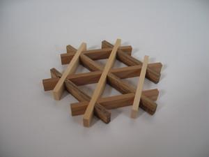 三つ組手コースター mitsukude kumiko coaster