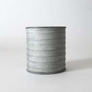 ブリキのポット 波型コイルシリンダー|Wave Shape Tin Pot