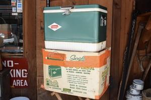 USED 60s Vintage Coleman Snow-Lite Cooler -green 01008