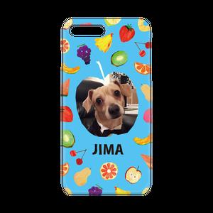 iPhone・Android Mサイズ フルーツハードケース color:ブルー