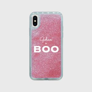 【Gohan da BOOオリジナルグッズ】ピンクグリッター iPhone X/XS/XS Max ケース