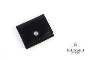 エッティンガー|ETTINGER|ブライドルレザーコインケース|ブラック×グレイ