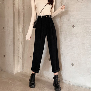 【ボトムス】韓国版ファッションハイウエストカジュアルパンツ24779154