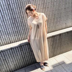 【BAD】rib halter knit dress