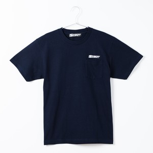 SURFIN' LIFEオリジナル ポケットTシャツ/SURFIN'LIFEロゴ(ネイビー×ホワイト)