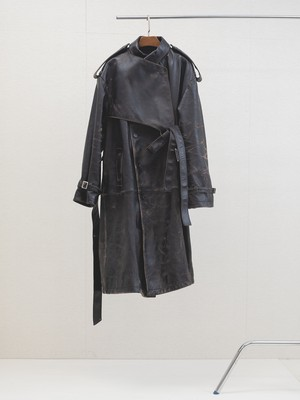 Belted Trench Coat Dead leather