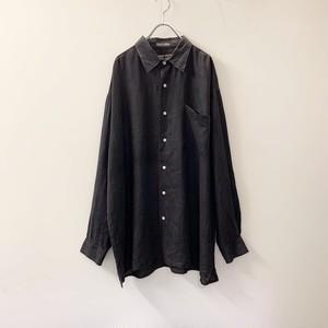 ROBERT STOCK リネンシャツ ブラック size XL メンズ 古着