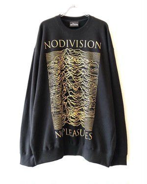 "GOLD【18055】CREW NECK BIG SWEAT ""NO DIVISION NO PLEASURES"""