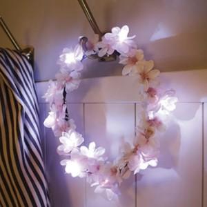 cherry blossom wreath LED mood light / チェリーブロッサム フラワー ルームライト 壁掛け 桜 照明 韓国 雑貨