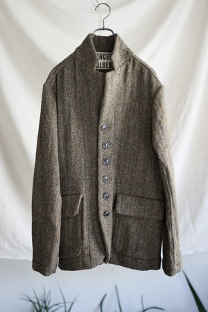 Vincent Jalbert - Washed Herringbone Tweed 6 Buttons Jacket