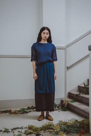 YUKISHIMANE double lace knit skirt