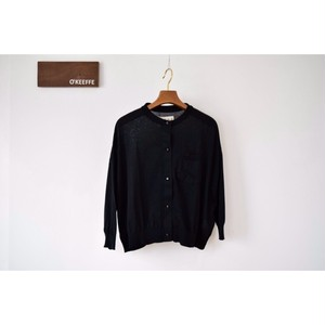 Simva115-0004-Black 18G Drop Shoulder Cardigan