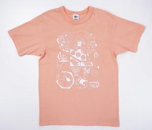 【久米繊維×TIS】「東京東」Tシャツ カラー:シャーベットオレンジ