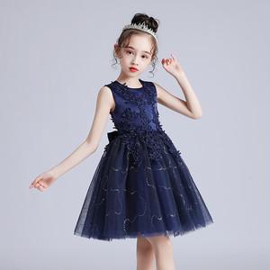 8383キッズドレス 子供ドレス ジュニア 女の子ドレス ミニ丈ワンピース ノースリープ100-160cm