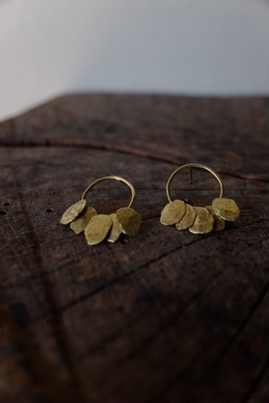 木の葉 Earrings - 5 / k18 yellow