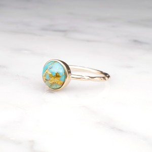S925 COPPER TURQUOISE RING GOLD 002