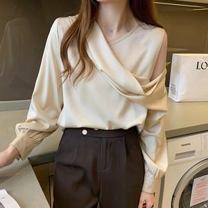 【トップス】ファッション長袖Vネックプルオーバーシャツ33630601