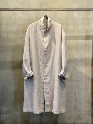 pre-fix linen work coat - soot / garment dyed effect