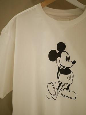 TAKAHIROMIYASHITATheSoloist. / oversized Mickey Mouse crew neck s/s tee. (monotone color Mickey Mouse white)