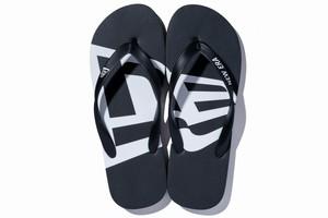 Beach Sandals ビーチサンダル フラッグ ブラック × ホワイト