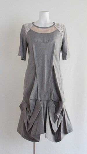 HISUI Drape Cotton Dress