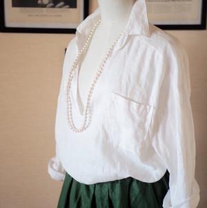 リネンスキッパーシャツ ホワイト