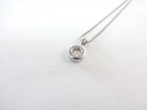 【完売しました】ダイヤモンドトップ ネックレス プラチナ 0.303ⅽt