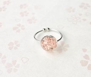 和風指輪 3D桜 ドームSS Japanese style 3D Sakura Extra small dome ring