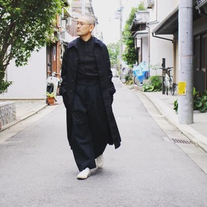 YARMO ヤーモ SHOP COAT Black