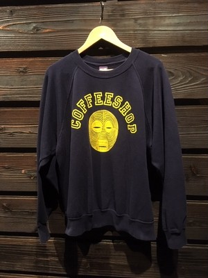 KAYA  Vintage Raglan Sleeve Coffee Shop  Navy  Lサイズ