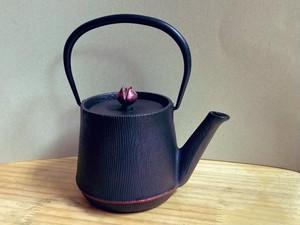 南部鉄器 鉄瓶 ウッドグレイン ルージュ 0.6L